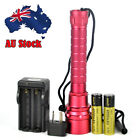 Underwater 100m Waterproof  XM-L2 1/3/5 LED Scuba Diving Flashlight 18650 Torch