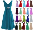 New Short Bridesmaid Formal Cocktail Party Prom Dresses Evening Ball Gown 6-22
