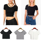 Fashion Women Sexy Short Sleeve Crop Tops Yoga Casual Blouse Vest T-Shirt  OZ
