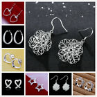 Luxury Elegant Women`s 925 Sterling Silver Crystal Ear Stud Earrings Jewelry New