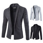 Mens Stylish Slim Fit Casual Knitted Coat Sweater Shirt Jacket Blazer Suit Tops