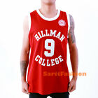 Dwayne Wade #9 Hillman College Maroon Basketball Jersey A Different World Show