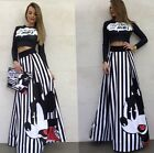 Gonna lunga stampa Topolino Disney Mickey Mouse printed floor lenght skirt
