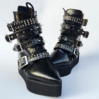 Lolita Punk Gothic Cosplay Pointy Bandage Rivet Ankle Boots Shoes 6084n-4