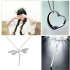 Fashion Men Women 925 Silver Plated Statement Chain Pendant Necklace Jewelry