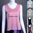 Women's Girls 100% Pure Silk Tank Tops Vest Singlet T Shirts  Blouse AF064