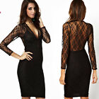 Women Casual Sleeveless Lace Little Black Dress Evening Party Cocktail Dress
