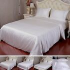 Seamless 22 Momme 100% Pure Silk Duvet Cover Sheet Pillow Case Ivory All Size