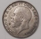 1921 XF GREAT BRITAIN FLORIN TWO SHILLINGS .500 50 SILVER BR