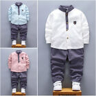 2pcs Toddler Baby Boys Kids Shirt Tops+Long Pants Clothes Gentleman Outfits Set