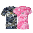 Camo Printing- Love Matching Shirts - Couple Tee Shirt Tops Simple Fashion