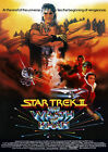 Star Trek 2 Wrath of Khan Poster Print Borderless Stunning Vibrant A1 A2 A3 A4 on eBay