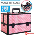 Portable Beauty Make Up Travel Case Cosmetic Nail Hair Carry Box Organiser Pink