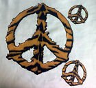NEW WILDLIFE ANIMAL TSHIRT - Tiger Inspired Peace Sign