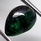 IRIDESCENT! 6.70ct.Natural Green Vietnamese Maw Sit Sit Pear Cabochon 14x10mm.