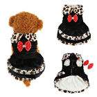 Lovely Puppy Small Dog Cat Warm Dress Coat Clothes Winter Apparel Costume Black
