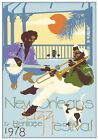 NEW ORLEANS JAZZ FESTIVAL 1978 METAL SIGN ADVERTISING TIN POSTER