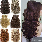 Fashion Double Thick Full Head Weft Clip in Hair Extensions Good as Human hair