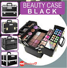 Black MakeUp Case Cosmetic Beauty Portable Travel Nail Hair Carry Box Organiser