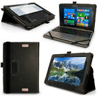 "PU Leather Folio Case for Asus Transformer Book T101HA 10.1"" Flip Stand Cover"