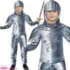 Boys Armoured Knight Realm Kids Fancy Dress Costume Crusader Medieval Book Day