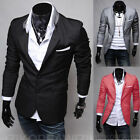 New Stylish Men's Casual Slim Fit Two Button Suit Blazer Coat Jacket Tops Hot