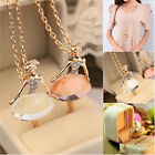 Fashion Women Ballet Dancer Crystal Ballerina Pendant Chain Necklace
