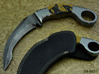 CUSTOM MADE EXQUISITE DAMASCUS STEEL HUNTING KNIFE (SH-0035)