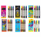 10 Packs of 4 Mini Colouring Wax Crayons - Great Party Loot Bag Fillers - Toys