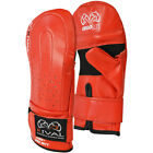 Rival Boxing RB5 Cowhide Leather Bag Mitts - Red - mma punching training speed