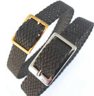 DARLENA 12mm VERY DARK BROWN EASY FIT WOVEN FABRIC PERLON 1 PIECE WATCH STRAP