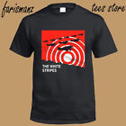 New The White Stripes Concert Tour Posters Men's Black T-Shirt Size S to 3XL image