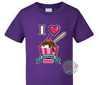 I Love Icecream Sundae PINK. Custom printed Kids T-shirt with fun quote.