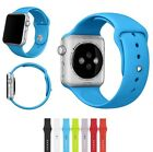 Silicone Wrist Bracelet Sport Band Strap For Apple Watch Replacement 38/42mm M/L
