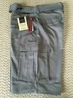 NWT Men's LR Scoop Solid Gray Belted Cargo Pocket Shorts All Sizes 30-36