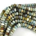 "Faceted Amazonite Rondelle Beads Gemstone 15.5"" Strand 4mm 6mm 8mm 10mm 12mm"