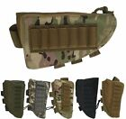 Tactical Shotgun Rifle Buttstock Cheek Rest Shell Ammo Mag Pouch Right Hand