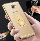 New Gold Clear Case Cover & Finger Stand Ring for Samsung Galaxy A5 A7 A3 2017
