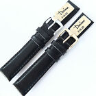 18mm DARLENA 1217 ANTI ALLERGY BLACK CALF LEATHER WATCH STRAP. PADDED & STITCHED