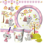 HAPPI WOODLAND GIRL - Birthday Party Range - Tableware Balloons & Decorations
