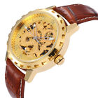 Let the Crowd Follow You- Mens Automatic Mechanical Skeleton Sport Wrist Watch