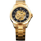 Golden Times- Fashion Men Stainless Automatic Mechanical Hollow Out Wrist Watch