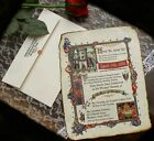 50 Medieval Renaissance Royal Castle Aged Scroll Wedding fairy taIe Invitations