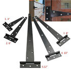 Black Tee Hinges Shed Door Gate Heavy Duty Strap T Hinge 4''/6''/8''/10''/12''