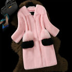 Women's Parka Luxury New Real Rabbit Fur Jacket V-collar Señora Winter Long Coat