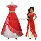 Elena of Avalor Princess Elena Cosplay Costume Red Fancy Dress Adult Gown Made F