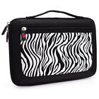 Zebra w/ Front Package Hard Shell Briefcase Handle Case Bag for Android Tablet