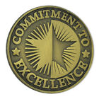 PinMart's Antique Bronze Commitment To Excellence Round Corporate Lapel Pin image