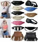 NEW LADIES FAUX LEATHER TACOMA BUMBAG FANNYPACK HEARTS STRIPE PEACE ZIP POUCH