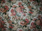 "Lee Jofa "" Malmesbury Print"" fabric by the yard glazed cotton floral clr vanilla"